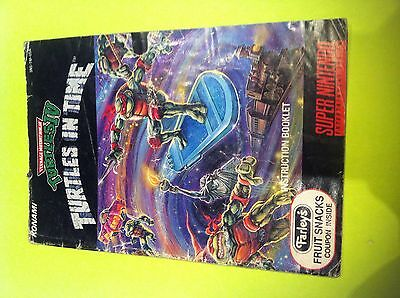 Teenage Mutant Ninja Turtles In Time IV TMNT - Super Nintendo SNES - Manual Only