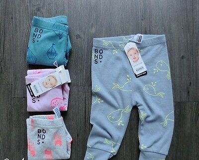 Bonds Leggings Rare Prints Strawberry Girls Boys Sail Boats Whales 000 00 0 1 2
