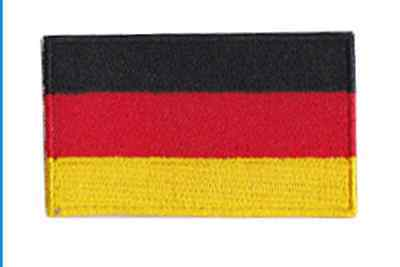 German Flag Embroidered Iron Or Sew On Patch, UK, free P&P