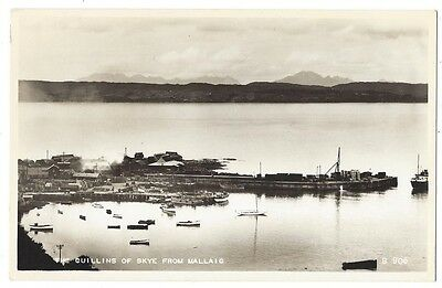 MALLAIG and the Cuillins of Skye, RP postcard by Valentine, Unused