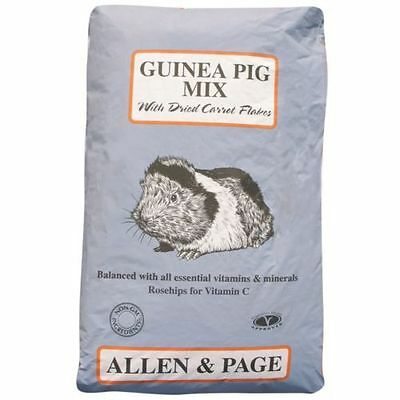 Allen & Page Guinea Pig Food Mix with Dried Carrot Flakes & Vitamin C 20 kg