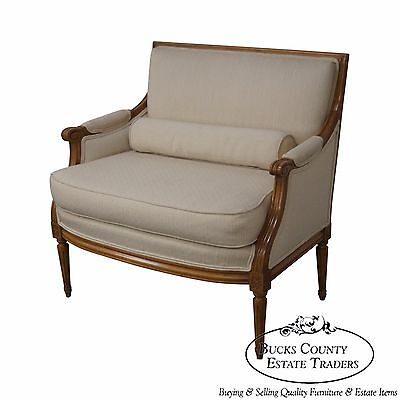 Quality Wide Seat French Louis XVI Style Bergere Canape Settee