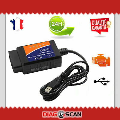♚ Interface de diagnostic USB ELM327 OBD2 compatible avec Multiecuscan DDT4ALL