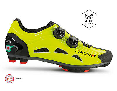 Crono hand made Extrema 2 fluo yellow mountain bike mtb cycling shoes 40 8 NEW