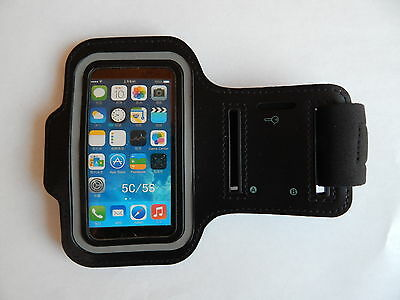 * Black Gym Sports Armband Case Arm Strap with Key Holder for iPhone 5 / 5S / 5C