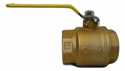 "New 3"" inch Brass Ball Valve  -  Forged IPS Full Port Threaded Fast Shipping"