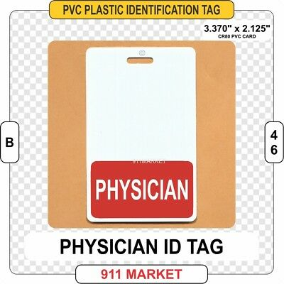 Physician ID Tag Licensed Professional Identification Hospital Doctor DR - B 46