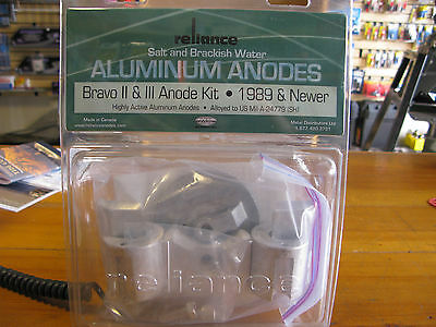 New! Reliance #b23A. Bravo 2 & 3 Aluminum Anode Kit. 1989 And Newer.
