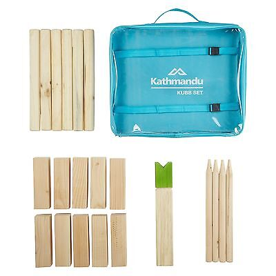 Kathmandu Wooden Kubb Set 2-6 Player All Ages Outdoor Swedish Lawn Game
