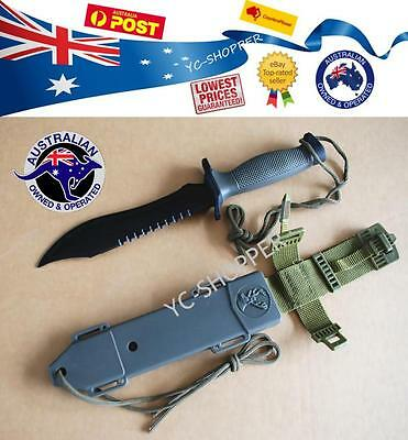 12 inch Survival Military Bowie Camping Hunting Tactical Knife with Hard Sheath