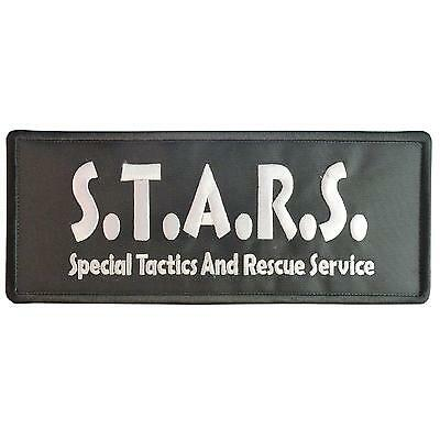 S T A R resident evil big XL 10x4 inch embroidered umbrella fastener patch