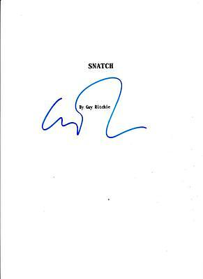 Guy Ritchie Signed Snatch Script Full 108 Page Authentic Autograph Coa