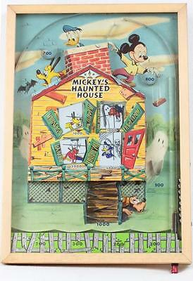 Vintage 1950's MICKEY'S HAUNTED HOUSE Disney Bagatelle/Pinball Electr. Game #453