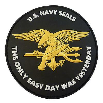 the only easy day US navy seals PVC 3D seal team devgru hook patch