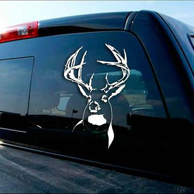 Detailed Deer woodcut style sticker decal laptop automotive window whitetail
