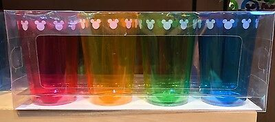Disney Parks Color Fusion Iconic Mickey Set of 4 Colored Cups New