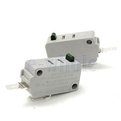 2Pcs Microwave Oven KW3A Door Micro Switch Normally Open for DR52 125V/250V WS