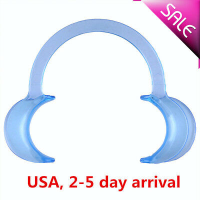 US 20pcs Blue Dental Teeth Whitening Cheek Retractor Mouth Opener C Type M Size