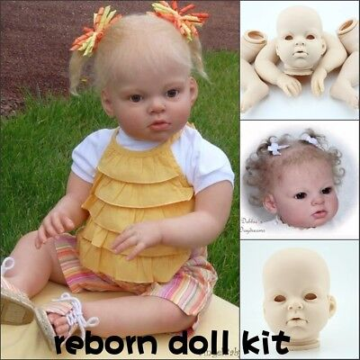 """Reborn Doll Parts Kit to Make Your Own Baby DIY Soft Head Arm Legs for 27"""" dolls"""