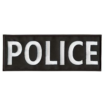 POLICE Large XL 10x4 inch embroidered 25x10cm vest SWAT tactical fastener patch
