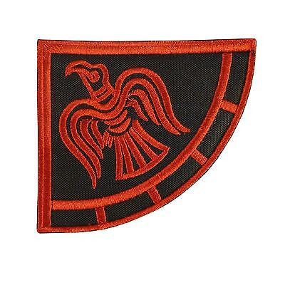 viking raven banner odin god of war embroidered mighty power hook patch