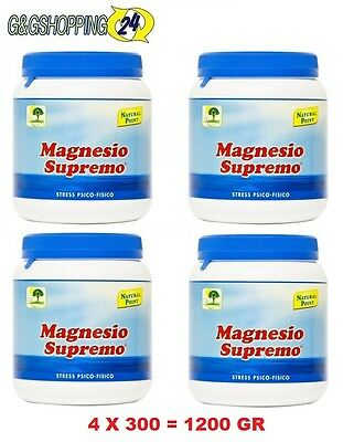 Magnesio Supremo 300 gr Antistress Natural Point 4- Confezioni da 4X300 1200 gr