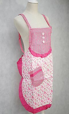 Women Ladies Floral Kitchen Apron with Front Pocket Waterproof