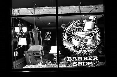 Wall Room Decor Art Vinyl Sticker Mural Decal Barber Shop Logo Sign Chair SA007