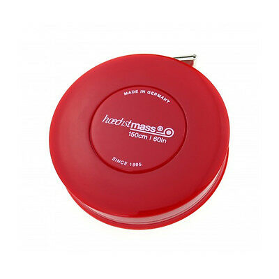 Hoechstmass Pocket Roller Tape Measure ROLLFIX 150 cm/60 inches, Red colour