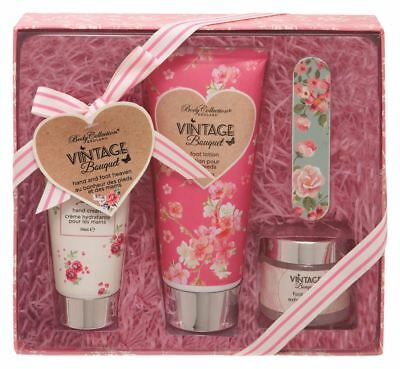 Body Collection Vintage Bouquet Hand And Foot Heaven Gift Set