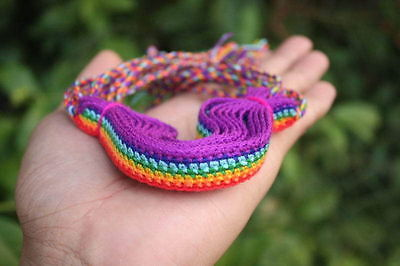 10 Handmade Rainbow Cotton Friendship Bracelets Wholesale Gay Pride