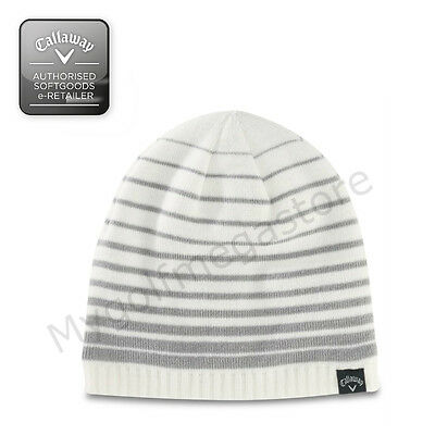 73f065d469b Callaway Golf Winter Beanie Hat in White Grey - Mens   Womens weather  series hat
