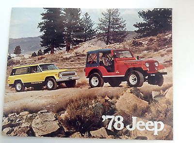 Jeep For 1978 Car Brochure