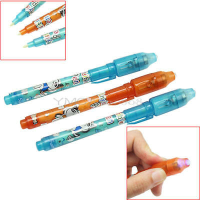3x Invisible Ink Marking Pen and UV Light Combo Secret Spy Message Novelty