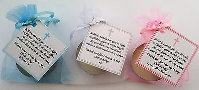 CHRISTENING /BAPTISM FAVOURS vanilla candle - personalised -GUEST GIFTS KEEPSAKE