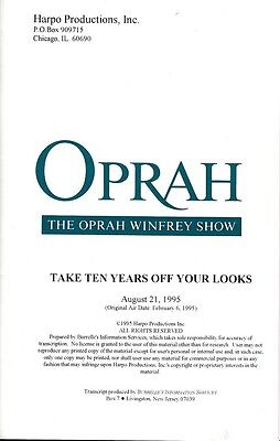 JOAN COLLINS - OPRAH WINFREY - 2 x Photo's & Transcript of OPRAH August 21, 1995