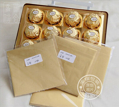 100 pcs Chocolate  Wrapping Paper- Aluminium Foil Film Handmade Candy Packaging