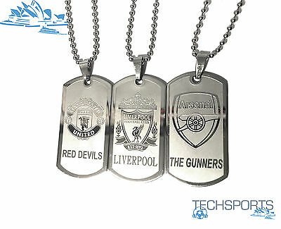 Dog Tag Chain Necklace | Liverpool FC |LFC| Arsenal | Manchester United|Man Utd