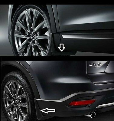 Mazda CX-9 Front and Rear Splash Guards 2016 0000-8H-N28 0000-8H-N29