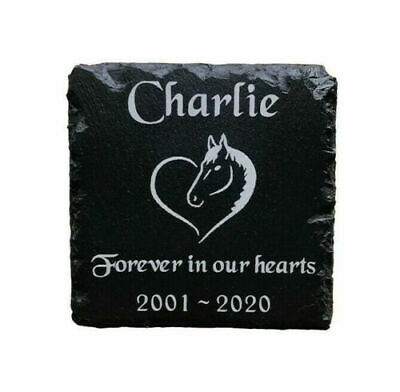 Personalised Engraved Slate Stone Pet Memorial Grave Marker Plaque for a Horse