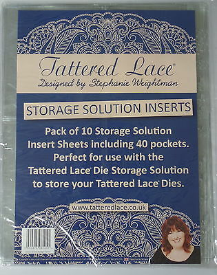 Tattered Lace Die Storage Solution inserts 4 pocket  A4 size