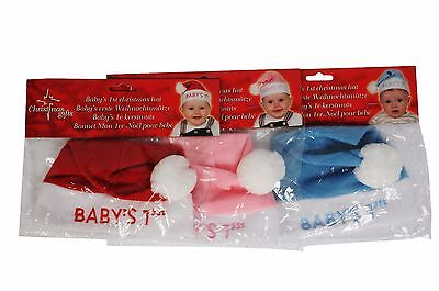 Christmas Xmas Baby My First Christmas Hat Cute Dinner Fun Christening Gift