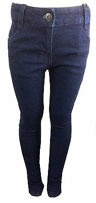 Girl's Ex Firetrap Denim Sand Wash Dark Blue Skinny Jeans Rivet Jeans BNWT 2-13Y