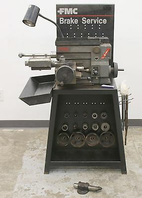 FMC / John Bean 601 Disc and Drum Brake Lathe w/ Stand, Adapters and Accessories