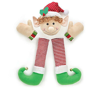 Christmas Holiday Decor Plush Elf Wreath Kit