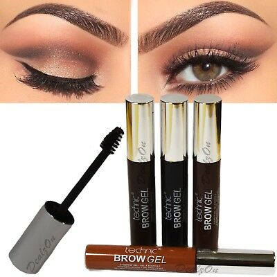 Technic Eye Brow Gel Light Medium Dark Brown and Black Shapping Gel Quality Eyes