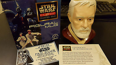 Obi-Wan Kenobi Star Wars Classic Collectors Series Figural Mug - Applause 1997