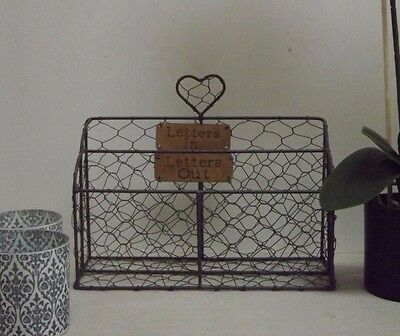 Vintage Style Wire Letter Rack