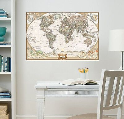 National Geographic WallPops WPE0668 Nat Geo World Map Executive Wall Decals