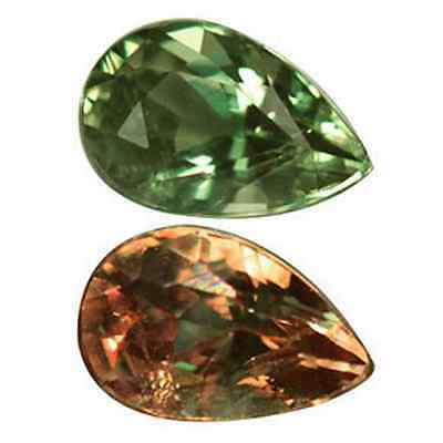 TCW 0.55ct ALEXANDRITE Phenomenal Pear Natural Color Change faceted clean + AIGS